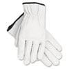 MCR™ Safety Grain Goatskin Driver Gloves, White, Large, 12 Pairs - 127-3601L