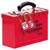 Master Lock® Latch Tight Portable Lock Box, Red MLK498A