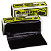 "<strong>Warp's®</strong><br />Heavyweight Contractor Bags, 55 gal, 3 mil, 35"" x 56"", Black"