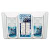 """Twin Bottle Eye Flush Station W/two 16oz Bottles, 3.75""""d X 13.5""""h X 16.5""""w"""