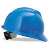 MSA V-Gard Hard Hats, Ratchet Suspension, Size 6 1/2 - 8, Blue - 454-475359