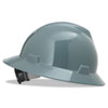 MSA V-Gard Full-Brim Hard Hats, Ratchet Suspension, Size 6 1/2 - 8, Gray - 454-475367