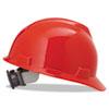V-Gard Hard Hats, Ratchet Suspension, Size 6 1/2 - 8, Red MSA475363