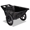 Rubbermaid® Commercial Big Wheel Agriculture Cart, 300-lb Cap, 32-3/4 x 58 x 28-1/4, Black RCP5642BLA