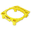 """Rubbermaid® Commercial Standard Rim Caddy, 4-Comp, Fits 32 1/2"""" dia Cans, 26 1/2w x 6 3/4h, Yellow RCP9W87YEL"""