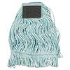 Mop Head, Loop-End, Cotton With Scrub Pad, Medium, 12/carton