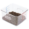 Rubbermaid® Commercial SpaceSaver Square Containers, 4qt, 8 4/5w x 8 3/4d x 4 3/4h, Clear RCP6304CLE