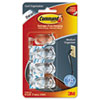 "Command Medium Clear Cord Clips w/ Clear Strips 17301CLR - 1.3"" Length x 0.6"" Width - 4 Pack - Clear MMM17301CLR"
