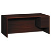 "<strong>HON®</strong><br />10700 Series Single Pedestal Desk with Three-Quarter Height Right Pedestal, 72"" x 36"" x 29.5"", Mahogany"