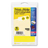 """Avery® Printable Removable Color-Coding Labels, 3/4"""" dia, Yellow, 1008/Pack AVE05462"""