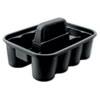 <strong>Rubbermaid® Commercial</strong><br />Deluxe Carry Caddy, 8-Compartment, 15w x 7.4h, Black