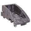 Rubbermaid® Commercial Slim Jim Trolley, 200 lbs, Black RCP355188BLA