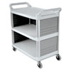 Xtra Utility Cart, 300-lb Cap, Three-Shelf, 20w x 40-5/8d x 37-4/5h, Off-White