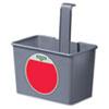 Smartcolor Side Bucket, 1qt, Plastic, Gray