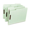 "Smead® Recycled Pressboard Fastener Folders, Letter, 1"" Exp., Gray/Green, 25/Box SMD15003"