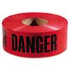 """Empire® Danger Barricade Tape, """"Danger"""" Text, 3"""" x 1000ft, Red/Black EML771004"""
