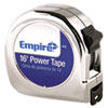 "<strong>Empire®</strong><br />Power Tape Measure, 3/4"" x 16ft, Metal Case, Chrome, 1/16"" Graduation"
