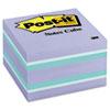 Post-it® Notes Original Cubes, 3 x 3, Seafoam Wave, 490-Sheet MMM2056PP