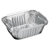 Handi-Foil of America® Aluminum Oblong Container, 1 Pound, 5-9/16 x 4-9/16 x 1-5/8 - 205930