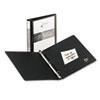 "Avery® Economy View Binder w/Round Rings, 11 x 8 1/2, 1"" Cap, Black AVE05710"