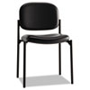 Basyx by HON VL606 Series Stacking Armless Guest Chair, Black Leather BSXVL606SB11