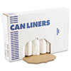 "<strong>Boardwalk®</strong><br />High-Density Can Liners, 60 gal, 11 microns, 38"" x 58"", Natural, 200/Carton"