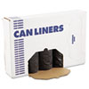 """<strong>Boardwalk®</strong><br />Low-Density Waste Can Liners, 60 gal, 0.65 mil, 38"""" x 58"""", Black, 100/Carton"""