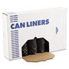 """LOW-DENSITY WASTE CAN LINERS, 56 GAL, 0.6 MIL, 43"""" X 47"""", BLACK, 100/CARTON"""