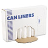 Boardwalk® EH-Grade Can Liners, 24 x 32, 12-16gal, .4mil, White, 25 Bags/Roll, 20 Rolls/CT - BWK2432EXH