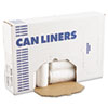 """HIGH-DENSITY CAN LINERS WITH ACCUFIT SIZING, 23 GAL, 14 MICRONS, 29"""" X 45"""", NATURAL, 250/CARTON"""