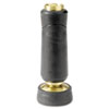 Straight Twist Nozzle, Brass/Rubber, Black