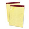 Ampad® Gold Fibre Ruled Pad, 8 1/2 x 11 3/4, Canary, 50 Sheets, Dozen TOP20020