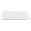 Microwave Safe Container Lid, Plastic, Fits 24-32 oz, Rectangular, Clear, 75/Bag