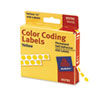 "Avery® Permanent Self-Adhesive Round Color-Coding Labels, 1/4"" dia, Yellow, 450/Pack AVE05792"