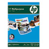 HP Multipurpose Paper, White, 96 Bright, 20 lb, Letter, 5000 Sheets/Carton HEW112000CT