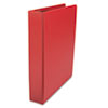 "D-Ring Binder, 1-1/2"" Capacity, 8-1/2 x 11, Red"