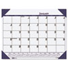 House of Doolittle™ Recycled EcoTones Ocean Blue Monthly Desk Pad Calendar, 22 x 17, 2017 HOD12440