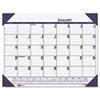 EcoTones Ocean Blue Monthly Desk Pad Calendar, 22 x 17, 2015