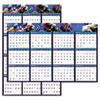 House of Doolittle™ Recycled Earthscapes Sea Life Scenes Reversible Wall Calendar, 24 x 37, 2017 HOD3969