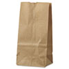 "<strong>General</strong><br />Grocery Paper Bags, 30 lbs Capacity, #2, 4.31""w x 2.44""d x 7.88""h, Kraft, 500 Bags"