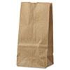 General #2 Paper Grocery Bag, 30lb Kraft, Standard 4 5/16 x 2 7/16 x 7 7/8, 500 bags BAGGK2500