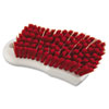"Boardwalk® Scrub Brush, Red Polypropylene Fill, 6"" Long, White BWKFSCBRD"