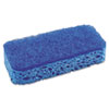 "S.O.S.® All Surface Scrubber Sponge, 2 1/2 x 4 1/2, 1"" Thick, Blue, 12/Carton CLO91017"