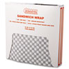 <strong>Bagcraft</strong><br />Grease-Resistant Paper Wraps and Liners, 12 x 12, Black Check, 1000/Box, 5 Boxes/Carton