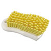 "Boardwalk® Scrub Brush, Yellow Polypropylene Fill, 6"" Long, White BWKFSCBYL"
