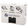 """HIGH-DENSITY COMMERCIAL CAN LINERS VALUE PACK, 45 GAL, 19 MICRONS, 40"""" X 46"""", BLACK, 150/CARTON"""