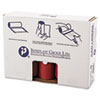"""LOW-DENSITY COMMERCIAL CAN LINERS, 45 GAL, 1.3 MIL, 40"""" X 46"""", RED, 100/CARTON"""