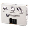 """HIGH-DENSITY INTERLEAVED COMMERCIAL CAN LINERS, 60 GAL, 16 MICRONS, 43"""" X 48"""", BLACK, 200/CARTON"""