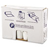 """HIGH-DENSITY COMMERCIAL CAN LINERS VALUE PACK, 45 GAL, 11 MICRONS, 40"""" X 46"""", CLEAR, 250/CARTON"""