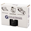 """HIGH-DENSITY COMMERCIAL CAN LINERS VALUE PACK, 60 GAL, 19 MICRONS, 38"""" X 58"""", BLACK, 150/CARTON"""